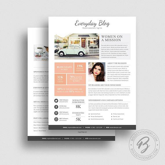 Media Kit Template 08 - 2 Page Media Kit Template - Ad Rate Sheet