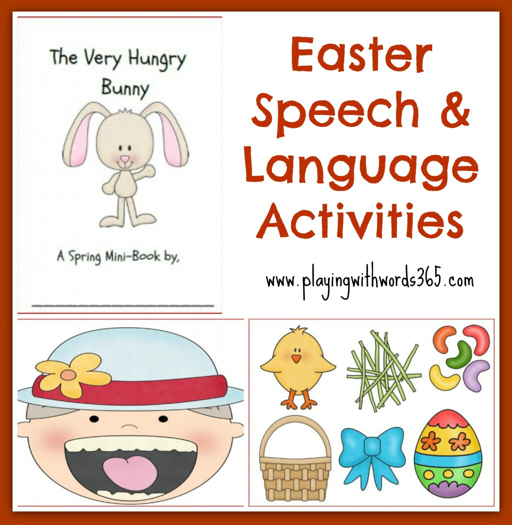 Speech Amp Language Activities For Easter