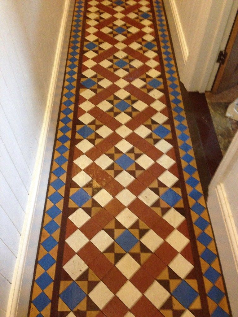 Victorian Minton Tiles Cleaned And Sealed Coventry Madhubani