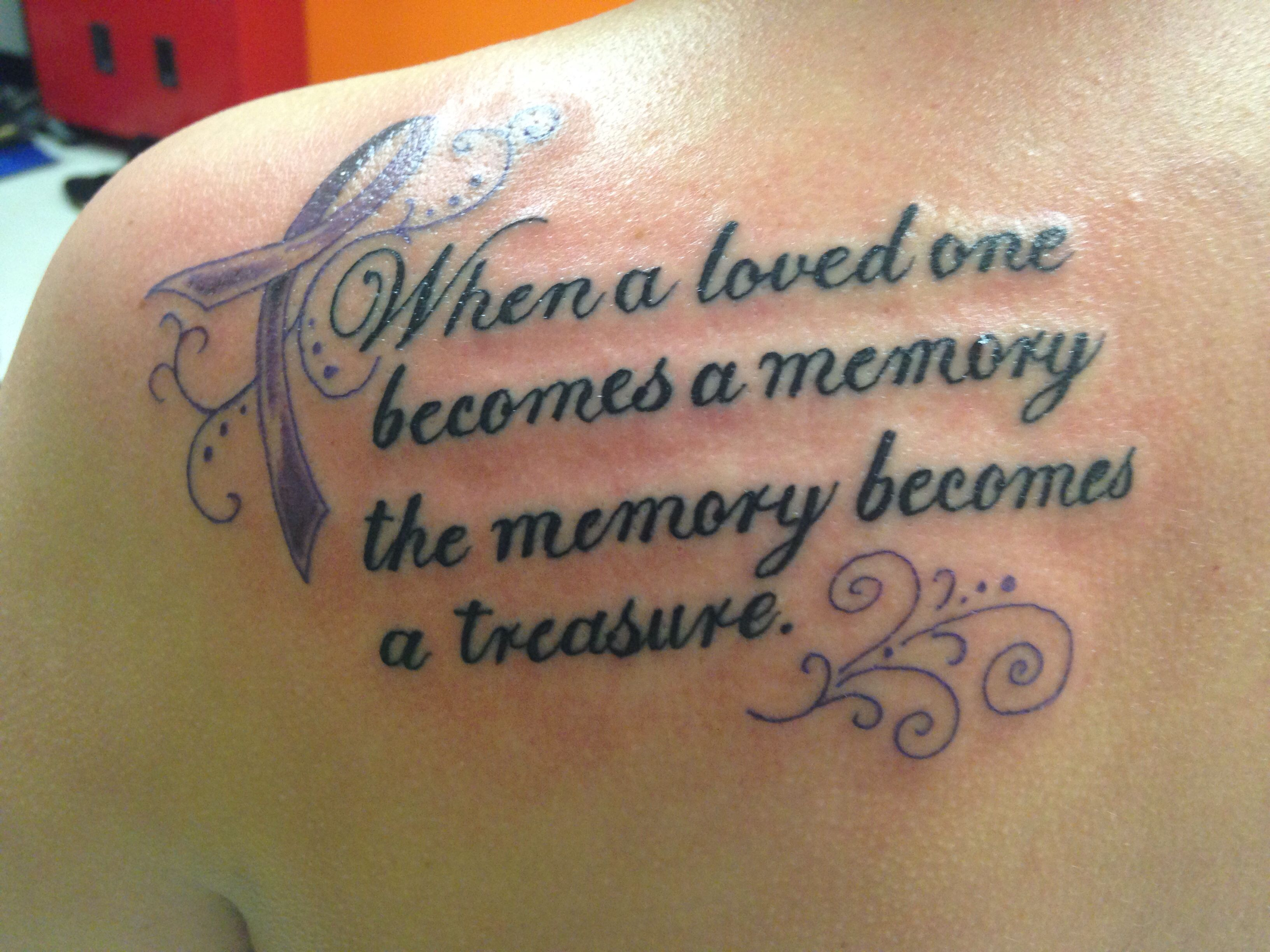 Tattoo in memory of my uncle and grandma both of them for Memory tattoo for grandma