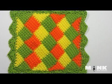 Entrelac Babydecke / Diamantmuster Teil 1 | videa | Pinterest ...