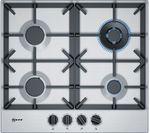Best Neff T26Ds59N0 Gas Hob Stainless Steel Black Stainless 400 x 300