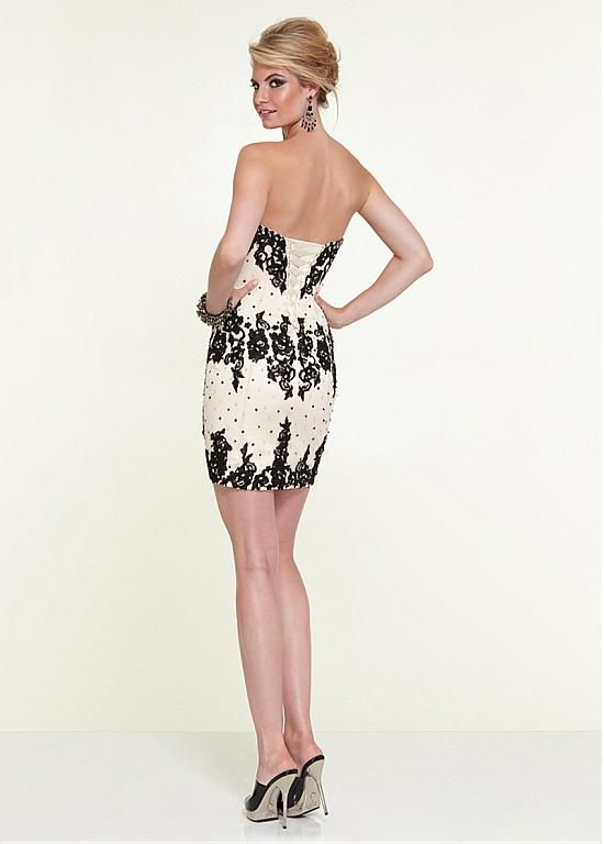 Chic Satin Sweetheart Neckline Short Sheath Homecoming Dress ...