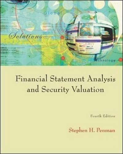 Financial Statement Analysis And Security Valuation  Financial