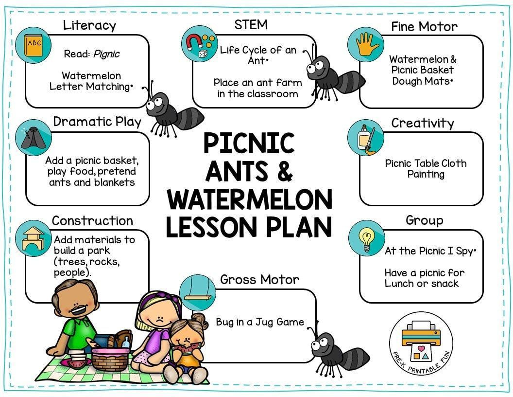 Here Is A Free Sample Picnics Ants Amp Watermelon Lesson