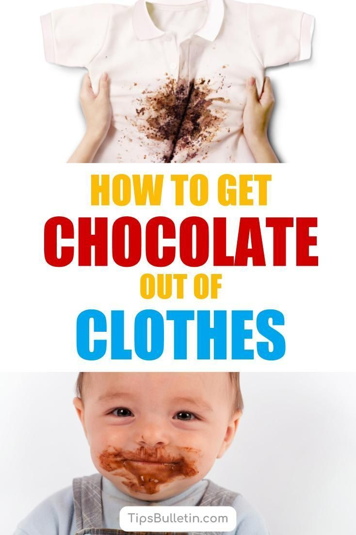 4 Simple Ways To Get Chocolate Out Of Clothes Cleaning Hacks Deep Cleaning Tips Clean Dishwasher