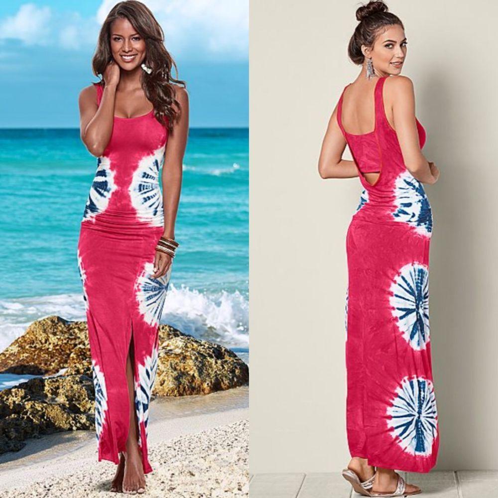 New Venus Tie Dye Maxi Dress In Red White Blue Size Small 4 6 Ebay Maxi Dress Tie Dye Maxi Dresses Dresses [ 1000 x 1000 Pixel ]