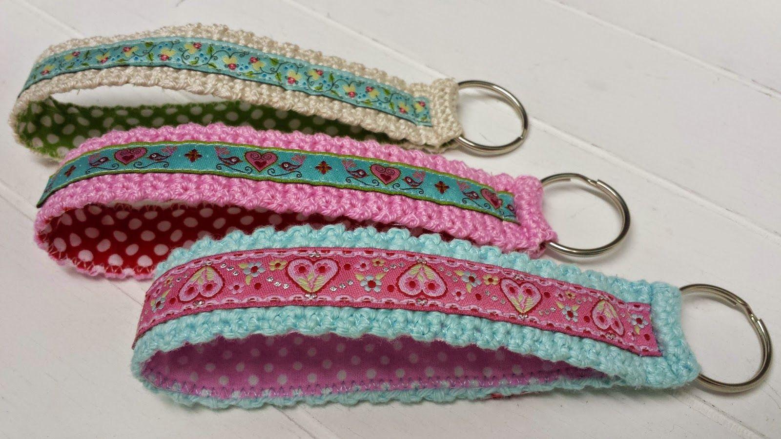 Schlüsselbänder Gehäkelt Und Genäht Häkeln Crochet Accessories
