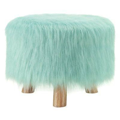 Bayden Hill 40487hgry 01 As U Harbor Green Faux Fur Stool