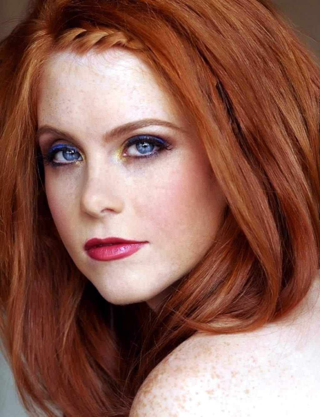 makeup for redheads with blue eyes :: one1lady
