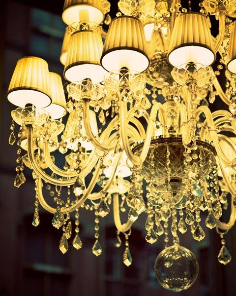 Glamorama - Fine art photograph - Chandelier in a New York City shop window. $35,00, via Etsy.