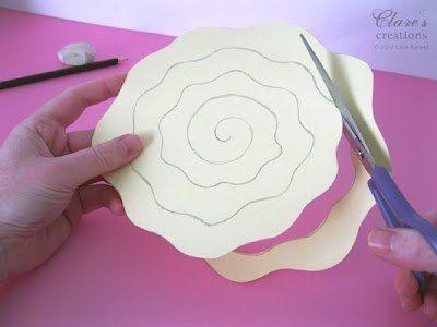 Como Hacer Rosas Grandes De Cartulina Como Hacer Flores De Papel Tutorial De Flor Flor De Paper