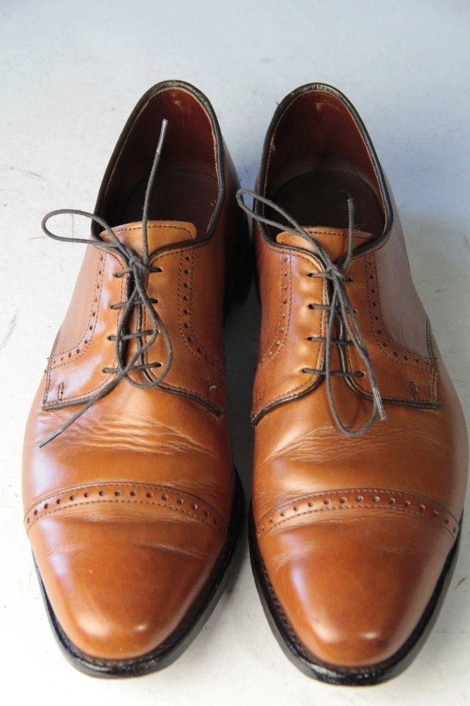 17ec54d381a ALLEN EDMONDS Clifton Sz 13 D Walnut Cap Toe Mens Dress Oxford Shoes   AllenEdmonds  Oxfords