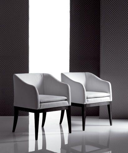 Sill n moderno de madera de cuero lobivia marac srl decoraci n sillones sillones - Sillones tapizados modernos ...