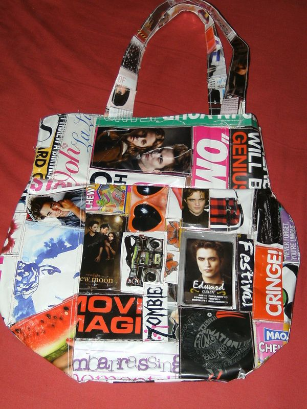 Recycled Magazine Bag
