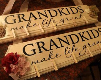 Grandkids Make Life Grand Decal Only 16 5 X 4 75 Board Not