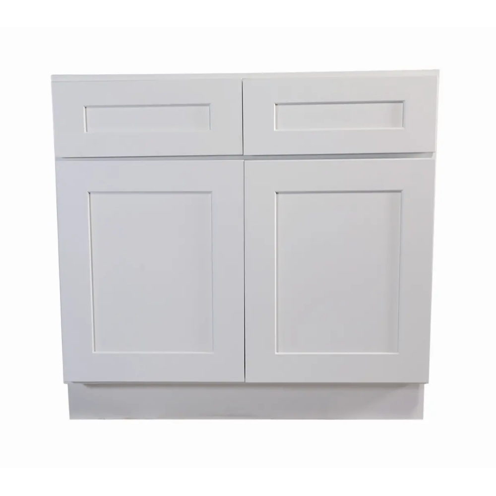 Design House 561423 White Brookings 48 Wide X 34 1 2 High Double Door Base Cabinet With Two Drawers Kitchen Base Cabinets Base Cabinets House Design Kitchen