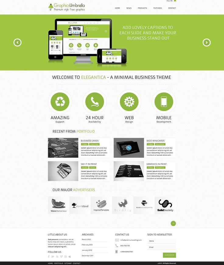 PSD CORPORATE BUSINESS WEBSITE TEMPLATE FREE DOWNLOAD Dự án Cần - Business card website template
