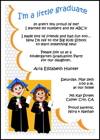 Boy or Girl Preschool PreK Kindergarten Elementary Graduation