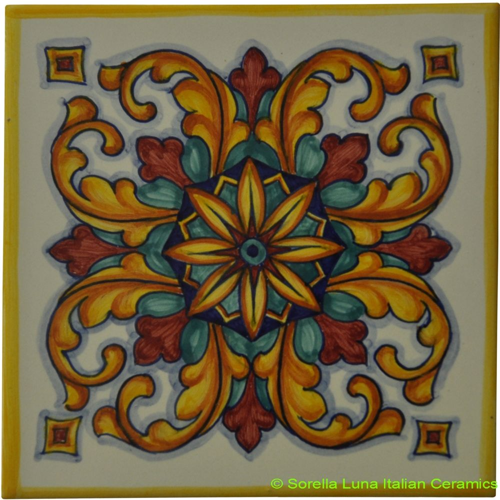 Italian Tiles Hand Painted | Tile Design Ideas