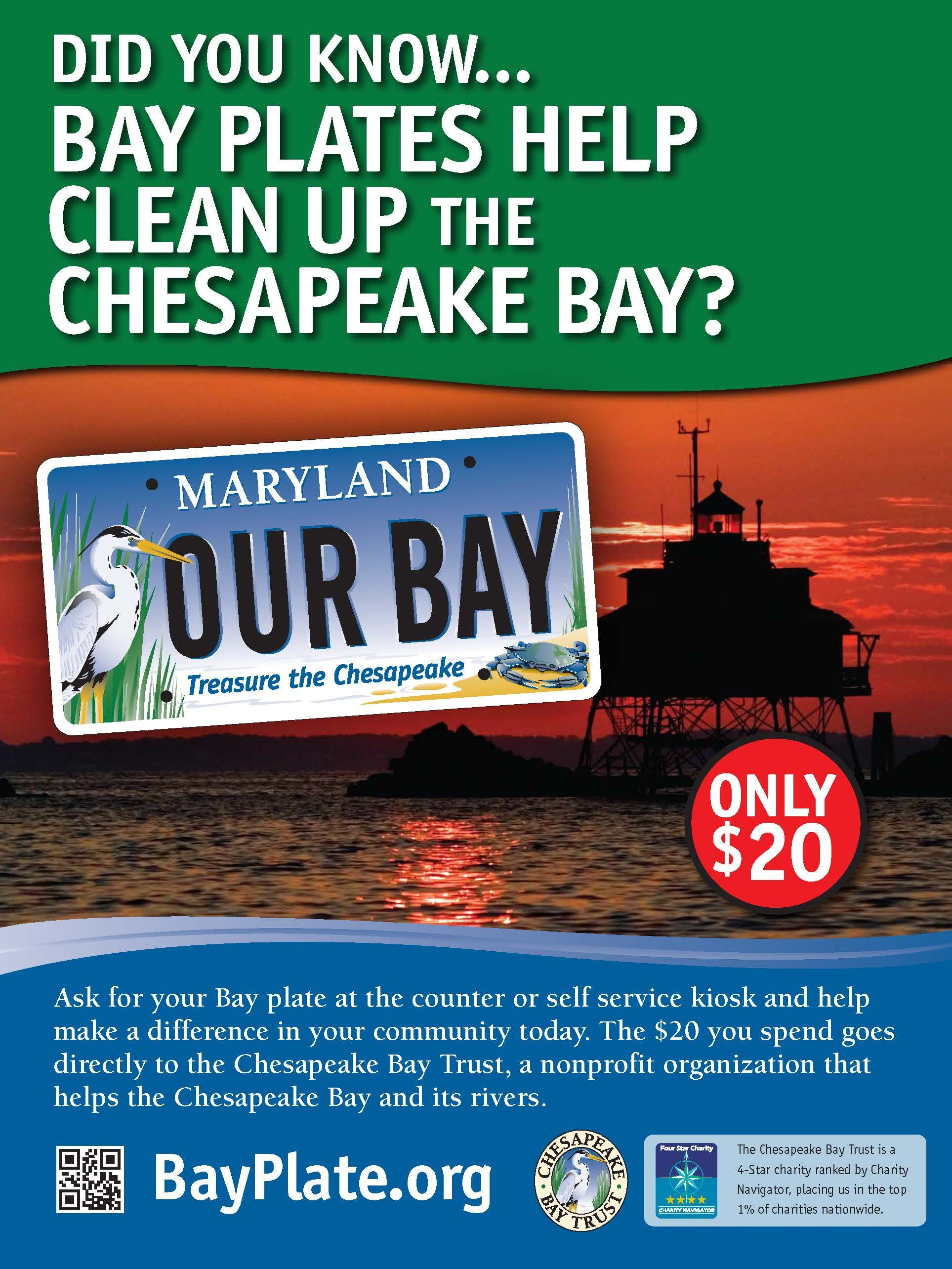 Bay plates actually help clean up the chesapeake