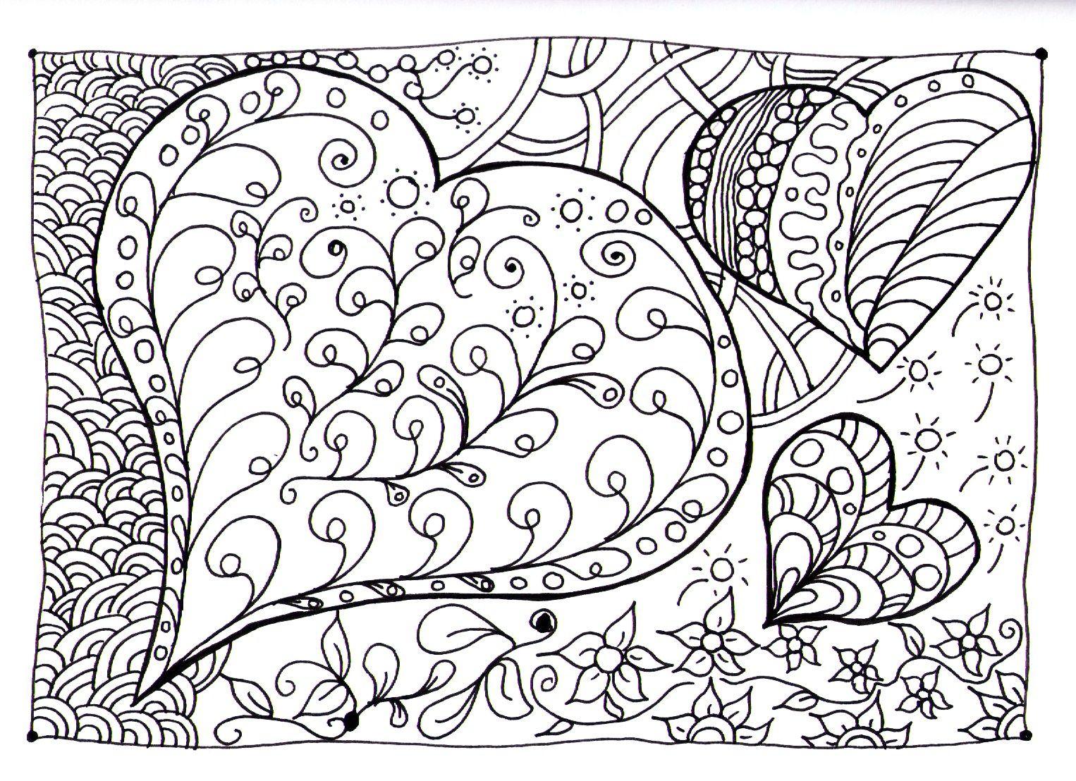 Moment Zen De Detente Et De Relaxation Garanti Avec Ces Coloriages Zen Anti Stress Complexes Pour Adultes S Coloriage Coeur Coloriage Coloriage Difficile