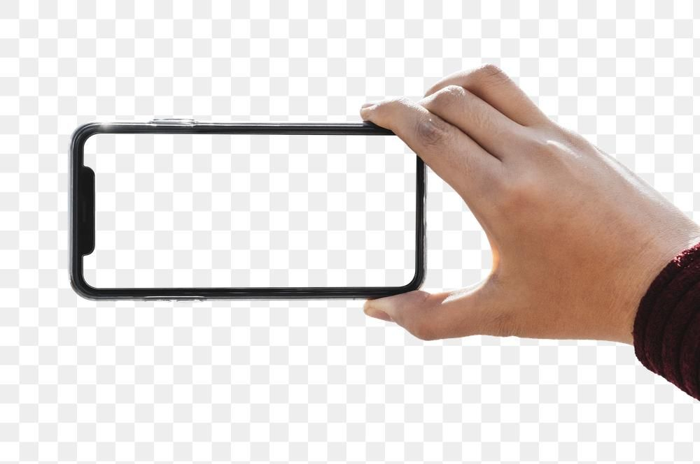 Black Cellphone Screen Template Transparent Png Premium Image By Rawpixel Com Eyeeyeview Hand Holding Phone Hand Phone Phone Mockup
