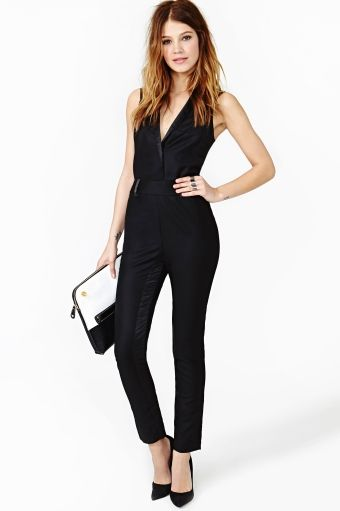 Jump On It Outfitsshoes Jumpsuit Fashion Black Tie
