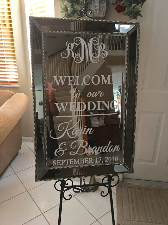 Vinyl welcome mirror decal is not included this listing for the which you will apply to your or wall also rh pinterest