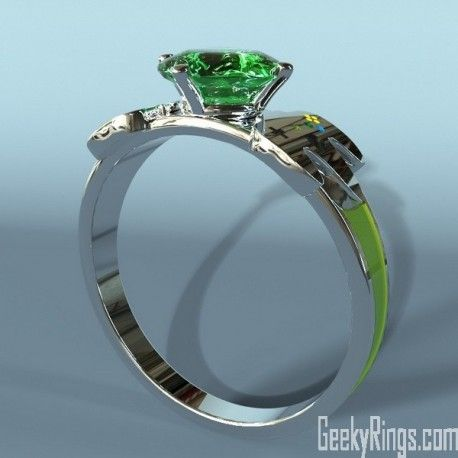 Pin by Geeky Rings on Nintendo Engagement Ring Emerald Pinterest