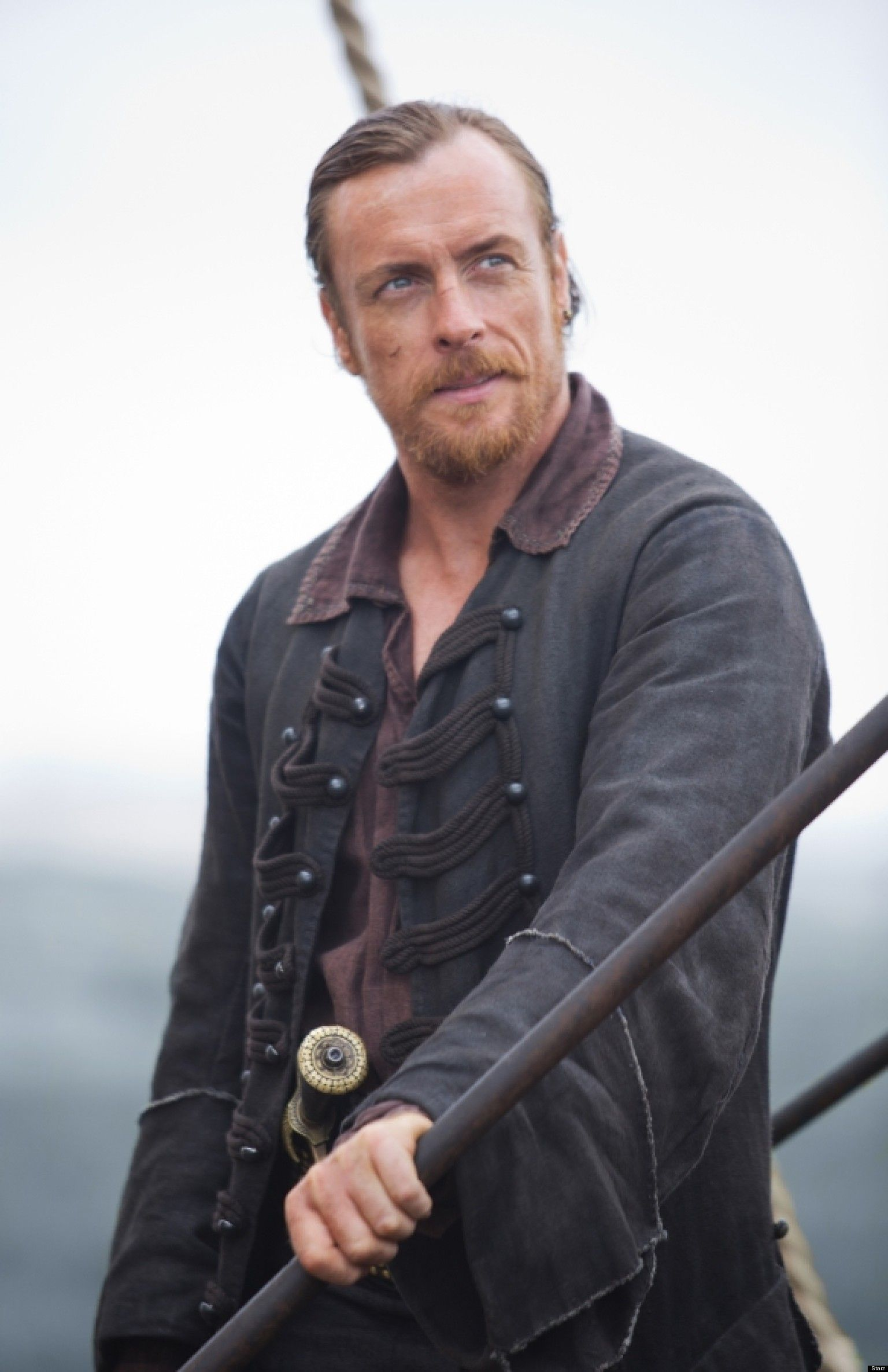 Black sails s3 pirate captain flint leather coat - Black Sails Tv Show Trailer The First Trailer For Michael Bay S Starz Drama Series Black Sails Starring Toby Stephens And Clara Paget