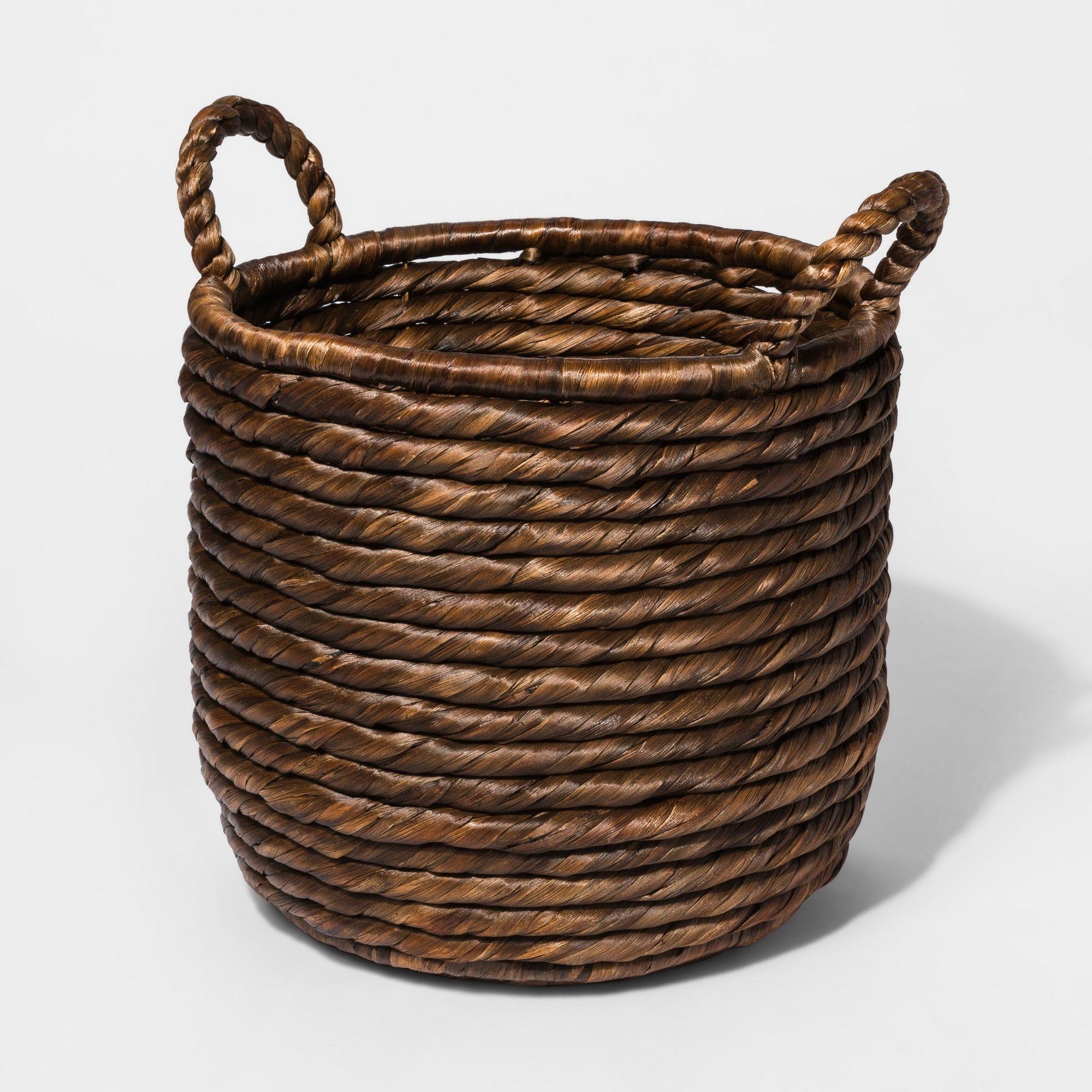 Decorative Basket Small - Dark Brown - Threshold (With ...