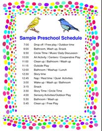 Standard preschool daily schedule template. Schedule Preschool Sample Pdf Daily Schedule Preschool Preschool Classroom Schedule Preschool Schedule