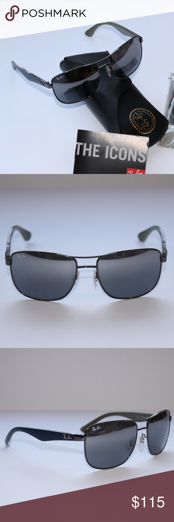 7682ae73bd Ray-Ban RB3533 Grey Gradient Mirror Brand New 100% Authentic These  lightweight square shaped