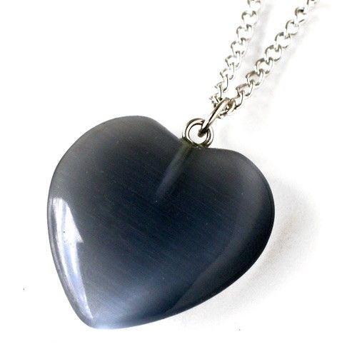 Grey Skies Heart Necklace