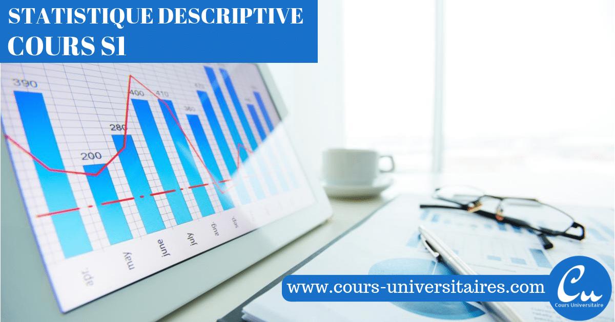 Cours Statistique Descriptive S1 PDF | Statistique descriptive, Cours universitaire, Statistiques