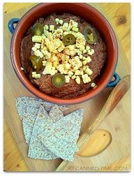 Spicy Sprouted Black Bean Dip