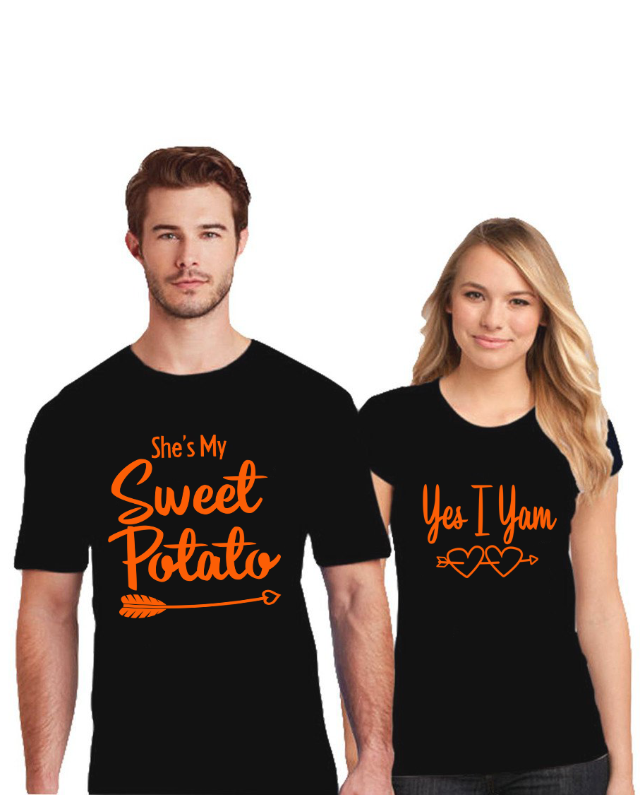 Funny Couple's She's My Sweet Potato Shirt. Perfect To
