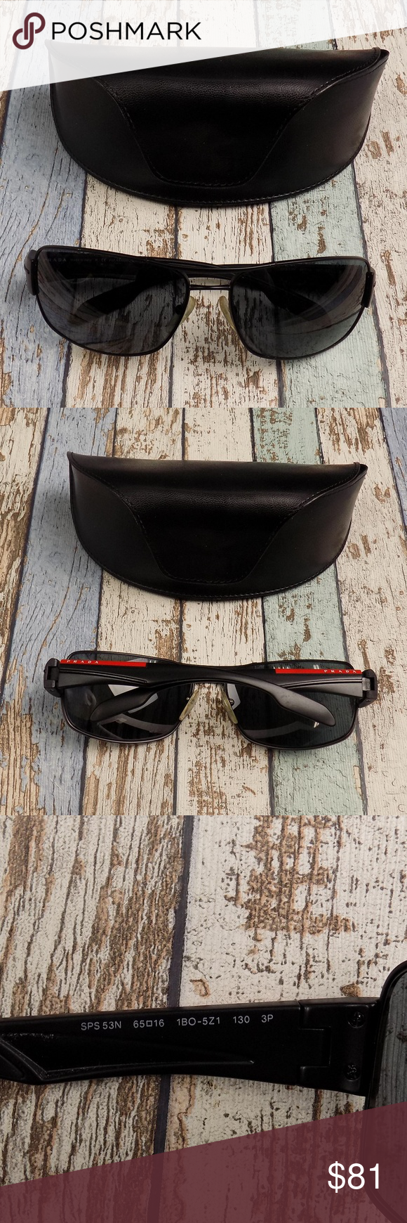 78d80a8ddafd2 Prada SPS 53N Men Sunglasses Italy DIL826 Made in  Italy Lens Condition   lenses