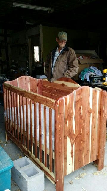 Hand Made Cedar Crib He Even Milled The Wood Him Self Mike