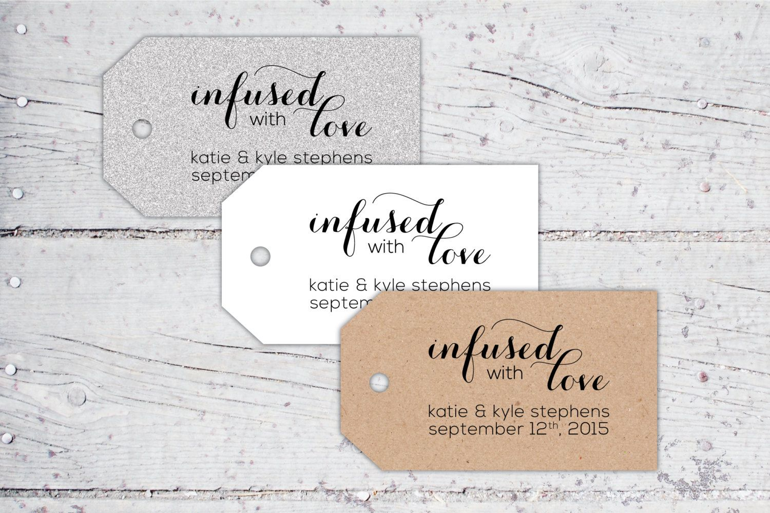 Infused With Love Olive Oil Wedding Favor Tags | 3 x 1.7 | Print-It ...