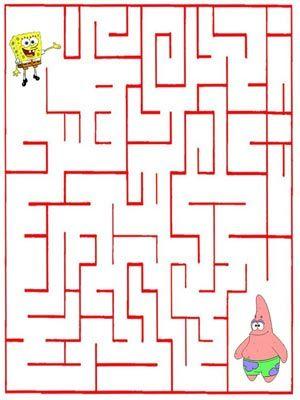 Juegos Para Ninos Laberinto De Bob Esponja Atencio Logica Memoria