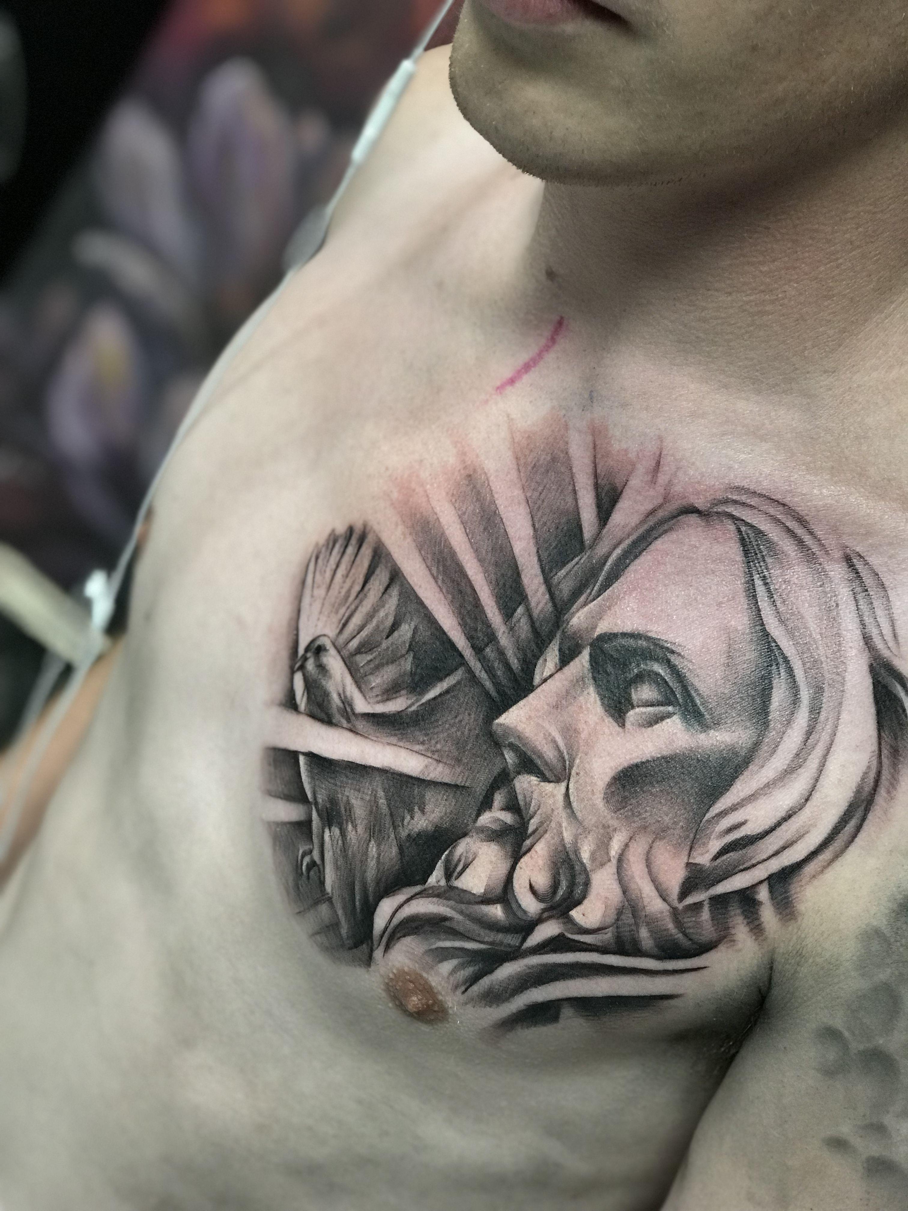 Jesus Portrait By Faisal Al Lami Tattoo Sal Tattoo Jesus Light
