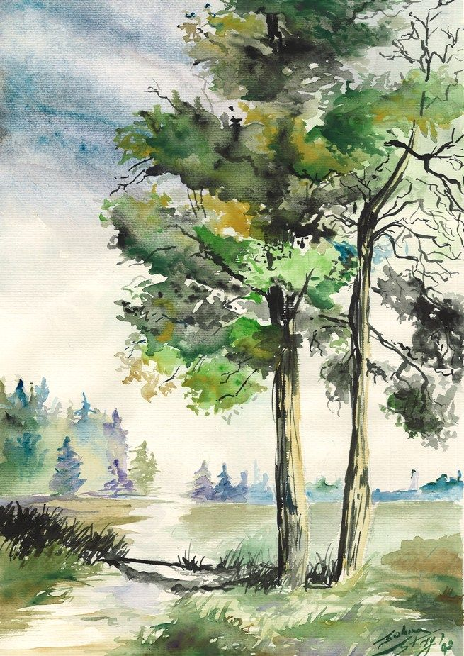 Watercolor by sabina m streg pinterest watercolor for Watercolor painting samples