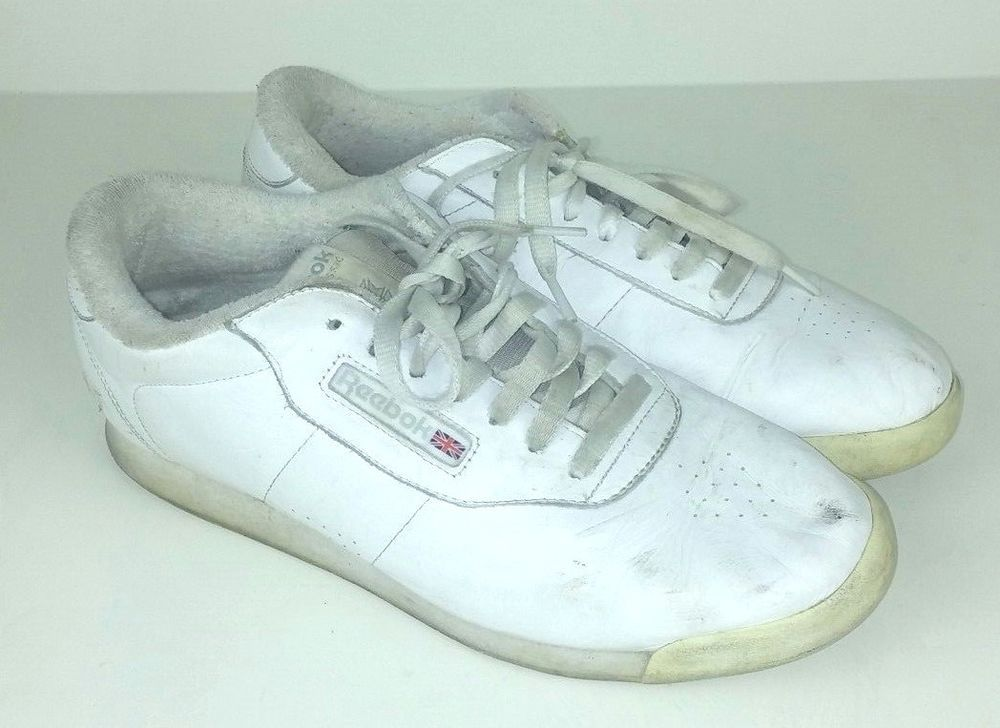 b03b66db3947 Reebok Women s Size 11 Sneakers Princess White Leather Classics Vintage  791502  Reebok  RunningShoes
