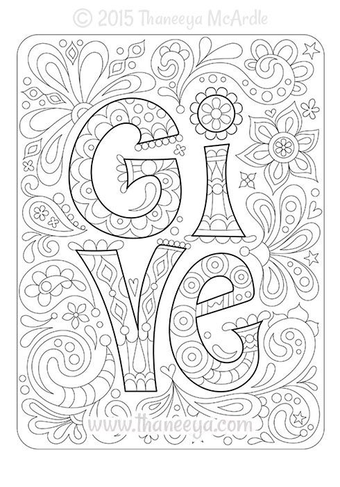 Color Cool Blank Coloring Page by Thaneeya McArdle | adult coloring ...