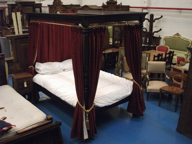 A351 Good Quality Early Victorian Four Poster Double Bed Circa 1840 For Antiques Clifieds