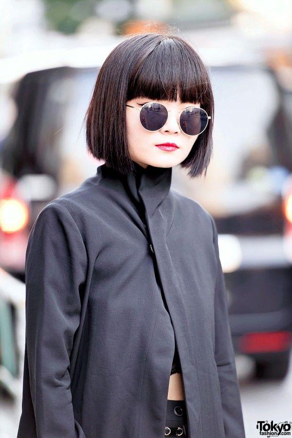 Black Japanese Bob Hairstyle Garments Pinterest Bob Hairstyle
