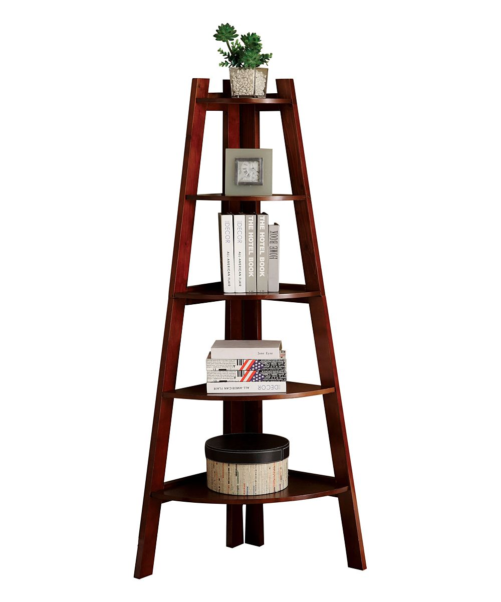 Cherry estelle corner bookcase zulily at home pinterest