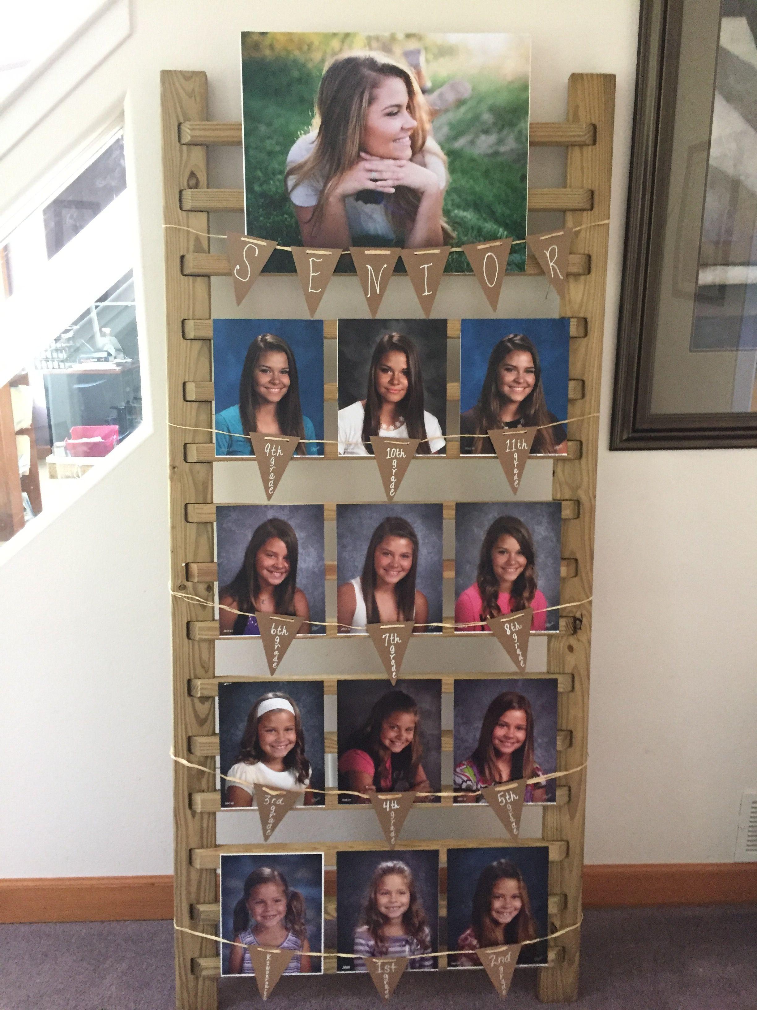 High school graduation photo idea using a wood railing
